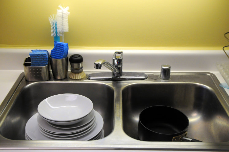 Kitchen Sink With Dishes hand-washing dishes is even more wasteful than we thought