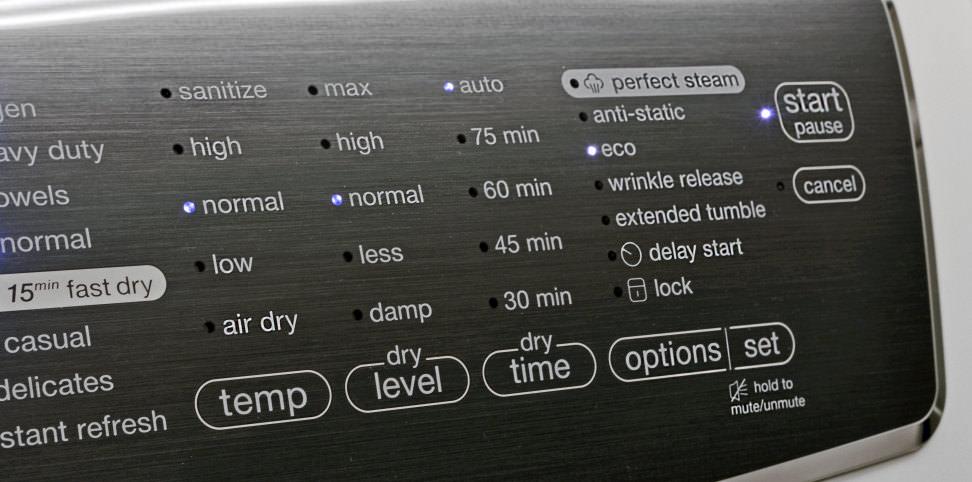 Electrolux EFME617SIW Controls