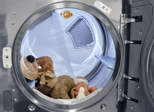 Stuffed Animals in LG DLEX5000V Dryer