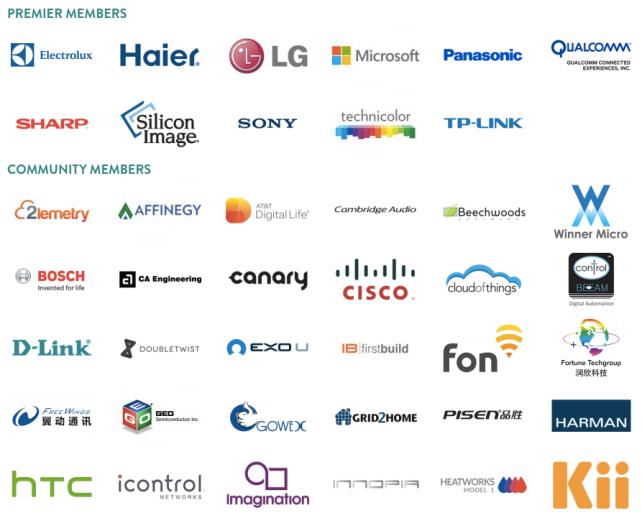 Partial List of AllSeen Alliance Members