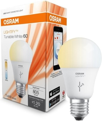 Product Image - Osram Lightify Tunable LED Bulb