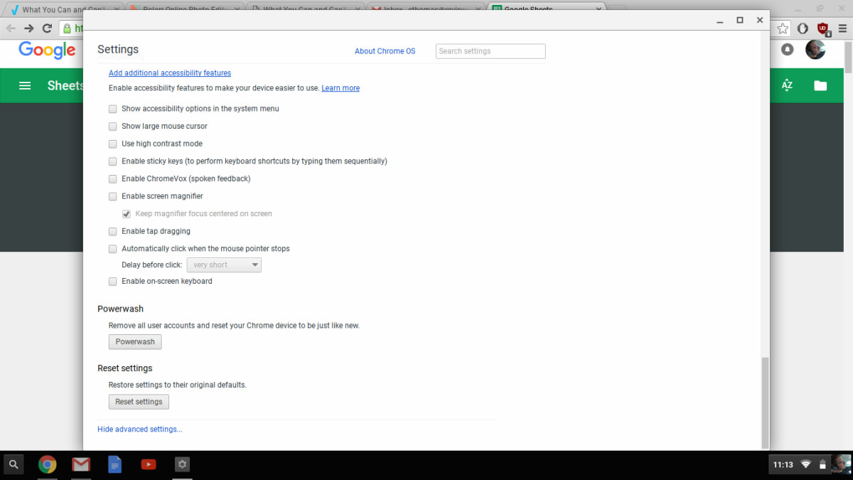 Device Settings Are Easy To Access, Though Not Very Exhaustive