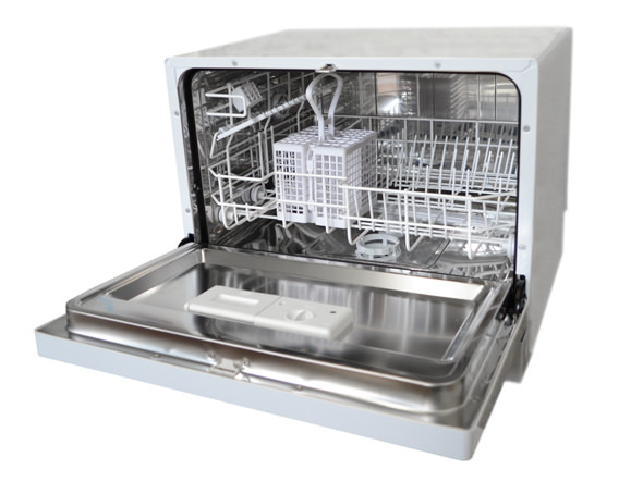 how do countertop dishwashers hook up Slide the new dishwasher under the countertop level the countertop by adjusting the height of the legs with a wrench secure the dishwasher to the countertop with screws.