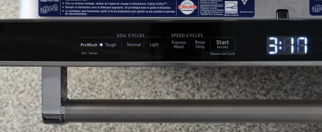 KitchenAid KDTM704ESS Cycle Controls