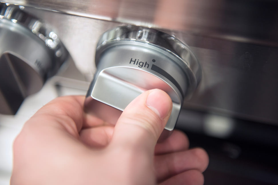 Miele HR1924DF control knobs in use