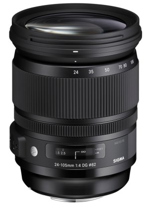 Product Image - Sigma 24-105mm f/4 DG (OS)* HSM | A