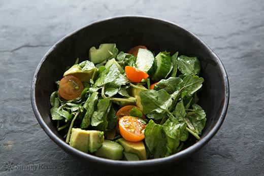 Salad on slate
