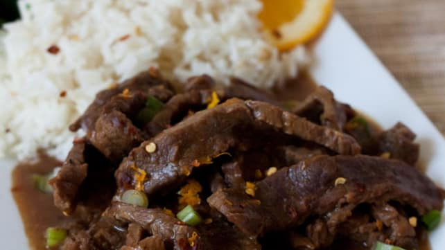 Spicy Orange Beef Instant Pot
