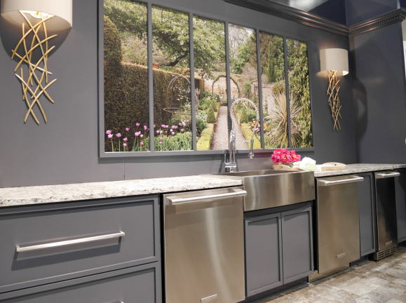 More custom cabinets at Electrolux Icon booth