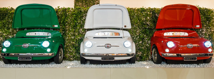 The Retro Smeg 500 Fridge Is Made From A Classic Fiat 500 Car, And