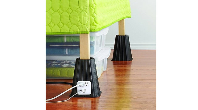 Bed Risers With Built In Outlets You Can Actually Reach Part 62