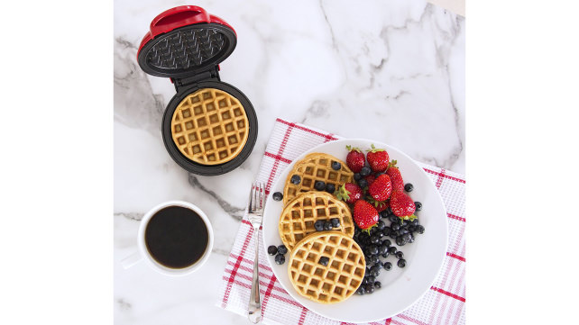 this mini waffle iron is perfect for practicing restraint