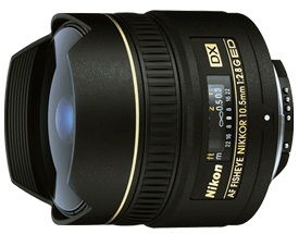 Product Image - Nikon AF DX Fisheye-Nikkor 10.5mm f/2.8G ED
