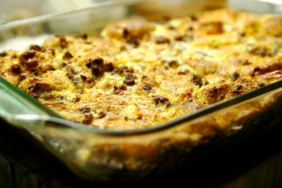 Stuffing and Turkey Breakfast Casserole